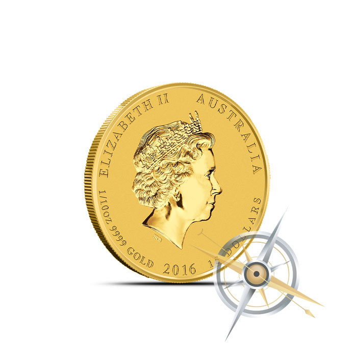 2016 Perth Mint Year of the Monkey 1/10 oz Gold Coin