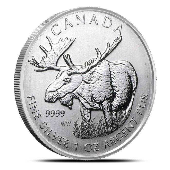 2012 Canadian 1 oz Silver Moose | Wildlife Series