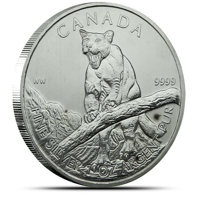 2012 Canadian Wildlife Series Cougar Obverse | Off Quality