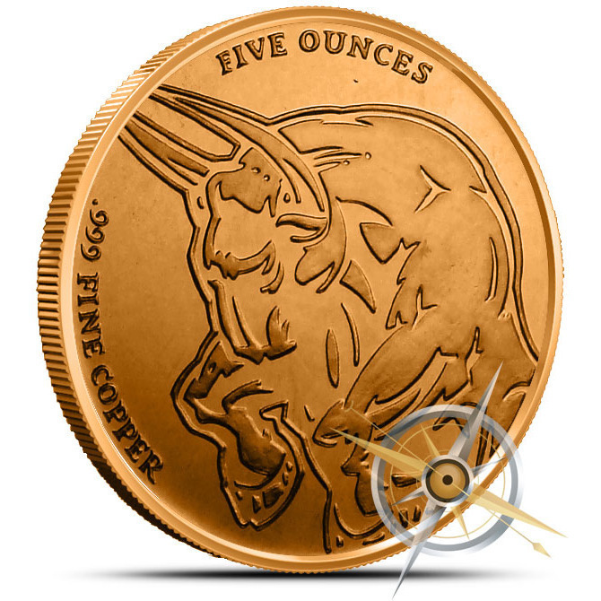 5 oz Bull and Bear Copper Round