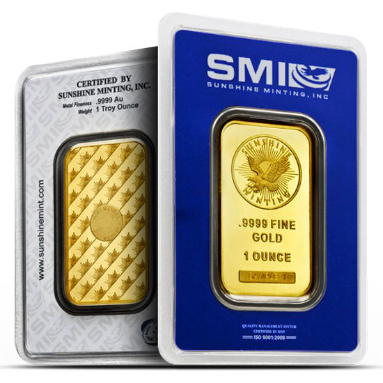 Sunshine Mint 1 oz Gold Bars