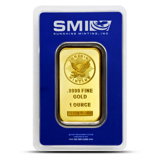 Sunshine Minting 1 oz Gold Bars Obverse