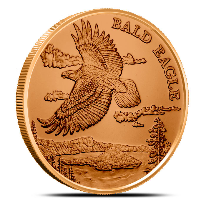 Bald Eagle 1 oz Copper Round | American Wildlife Series