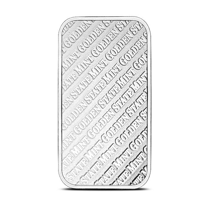 1 oz Silver Bar Golden State Mint Back