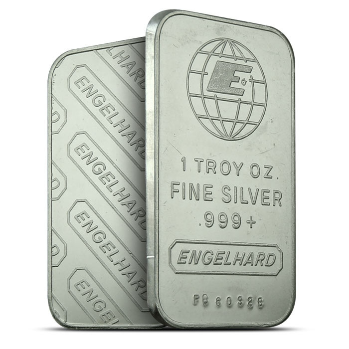 Engelhard Small E Logo 1 oz Silver Bar