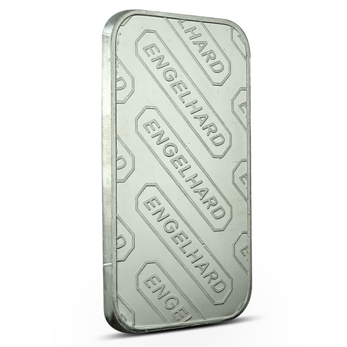 Engelhard Small E 1 oz Silver Bar Reverse