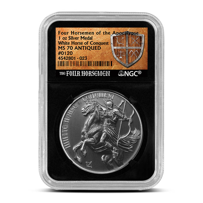 MS70 White Horse of Conquest | NGC
