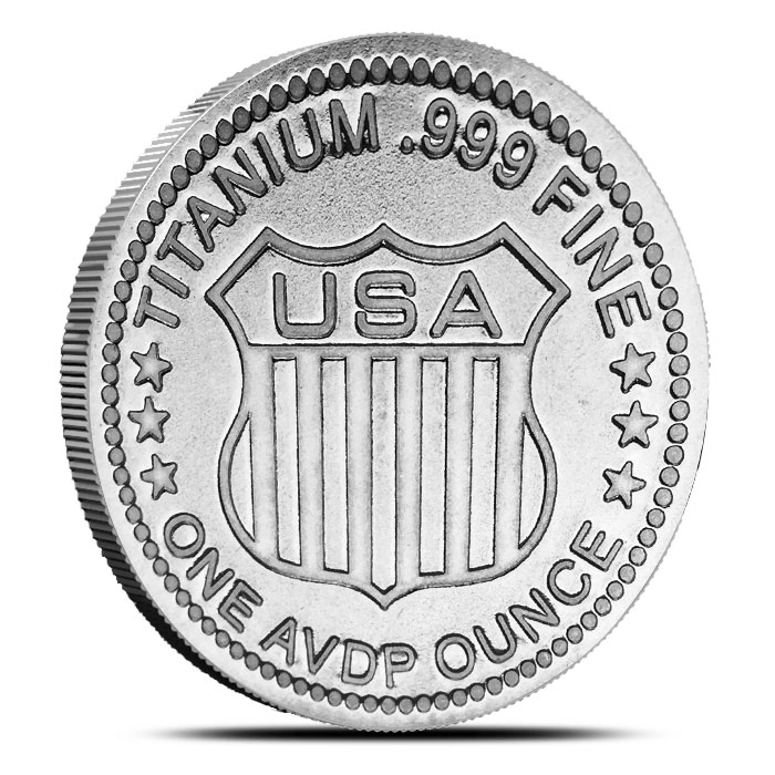 Standing Liberty one ounce Titanium Round