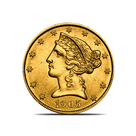 $5 Liberty US Mint Gold Half Eagle Coin