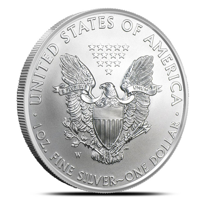 2013-W Silver Eagle Reverse with Mint Mark