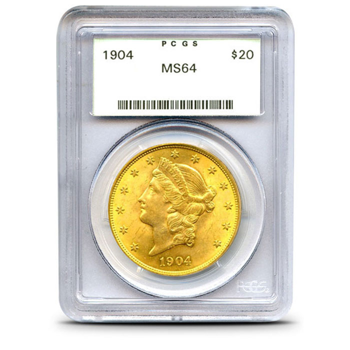 $20 Liberty PCGS MS64 Gold Double Eagle Coin Obverse