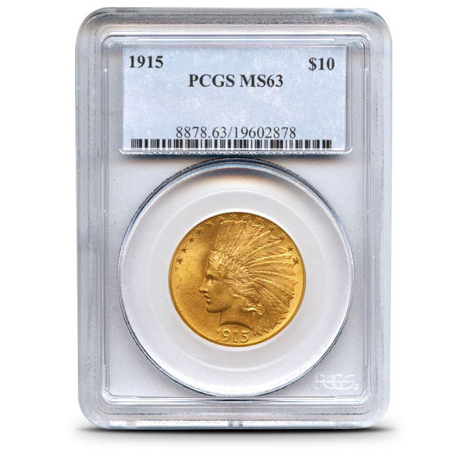 $10 Indian Head PCGS MS63 Gold Eagle Coin Obverse