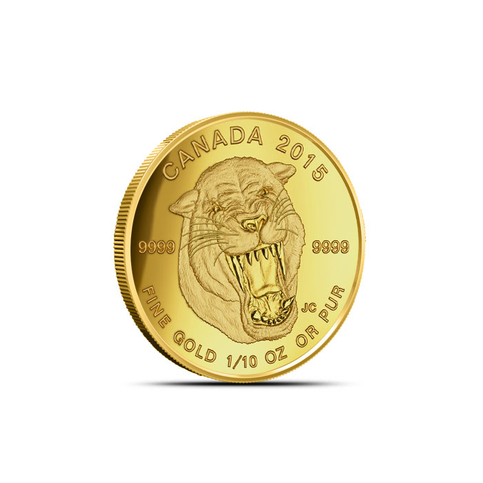 2015 1/10 oz Gold Sabre-Tooth Cat Coin