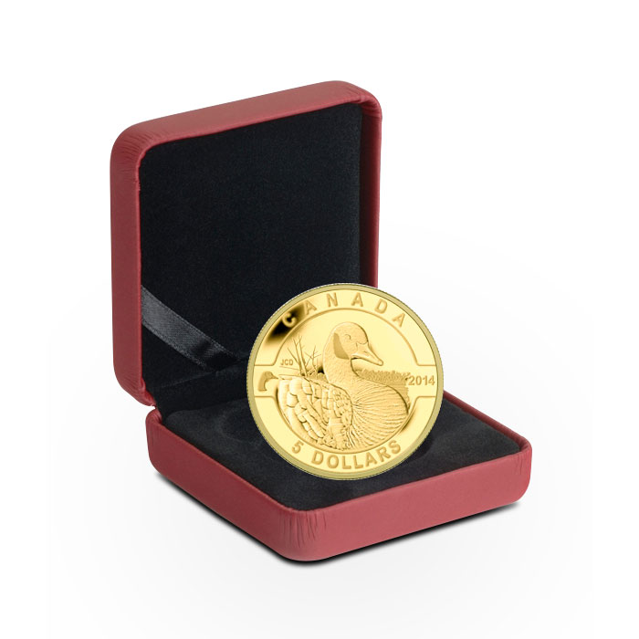 2014 1/10 oz $5 Gold Canadian Goose | O Canada Series Box