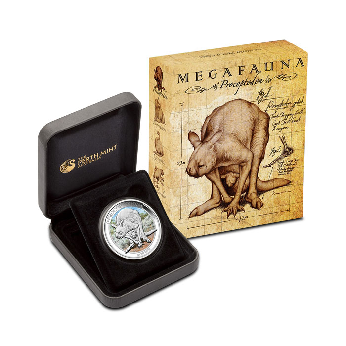 2013 1 oz Proof Silver Australian Megafauna Box Set