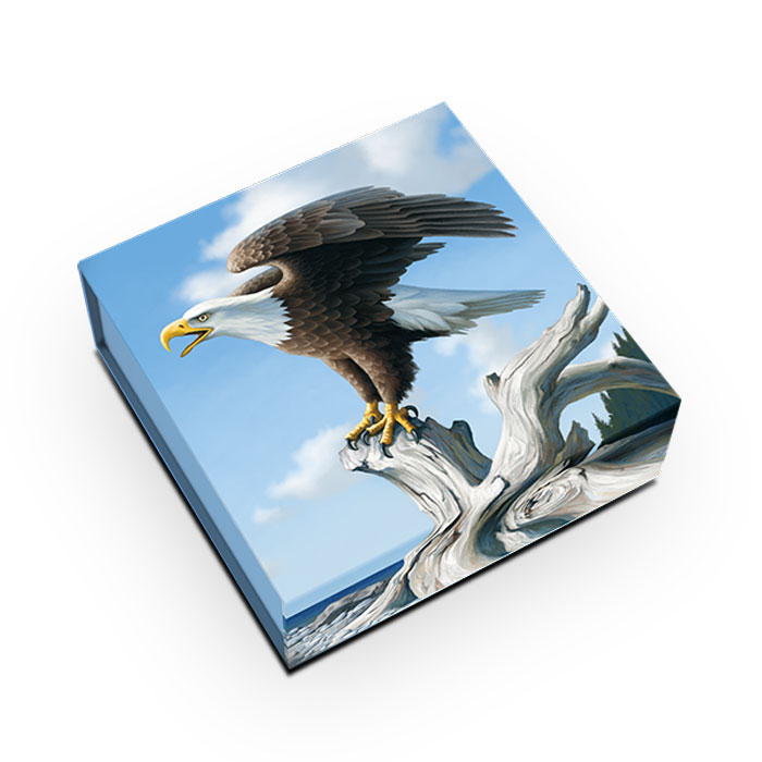 2014 1 oz Canadian Silver $100 | Bald Eagle Box