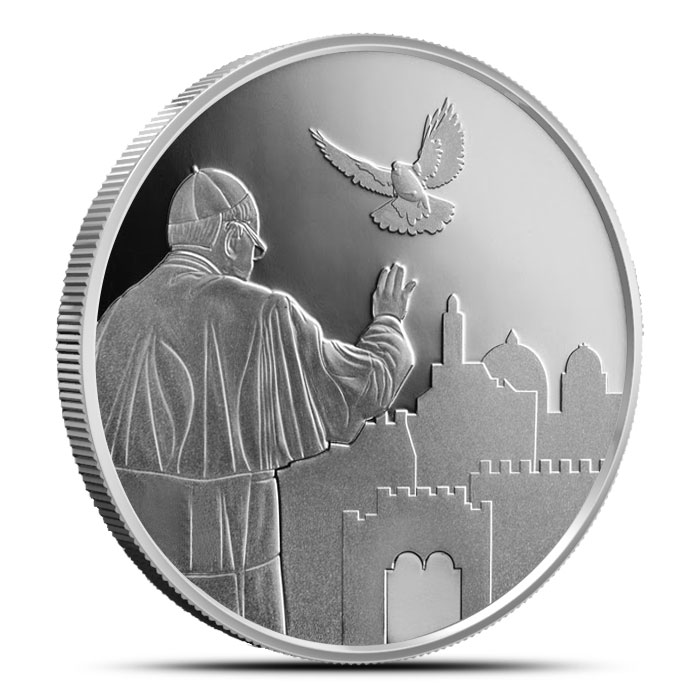 2014 Visit of Pope Francis to Israel 1 oz Silver Proof | Holy Land Mint