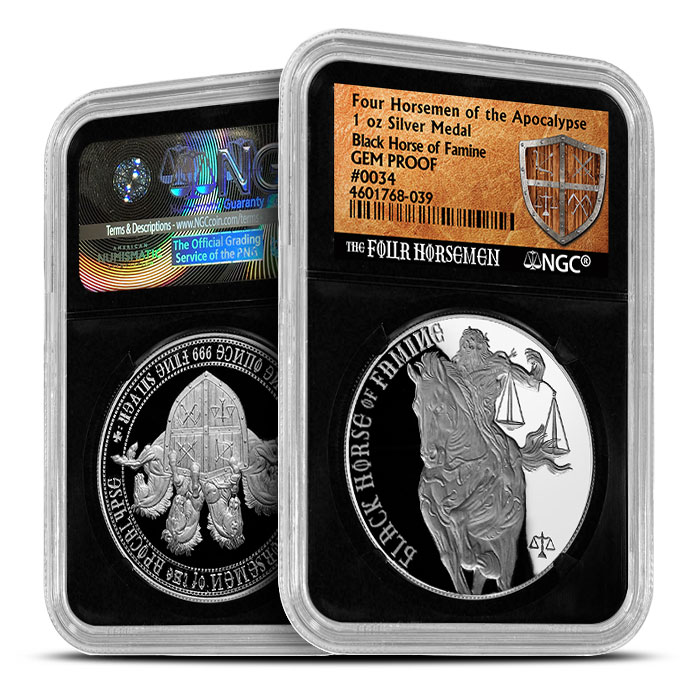 Black Horse of Famine | Four Horsemen NGC GEM Proof