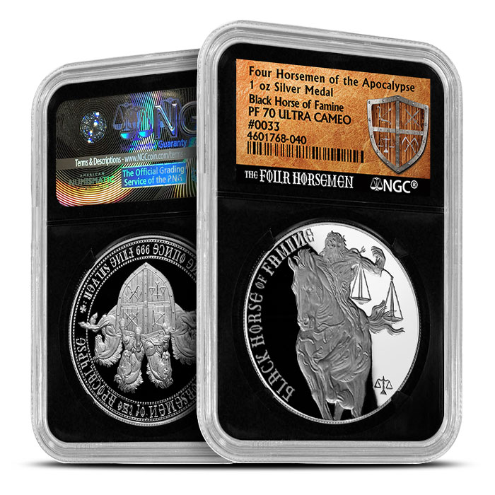 Black Horse of Famine | NGC Proof 70