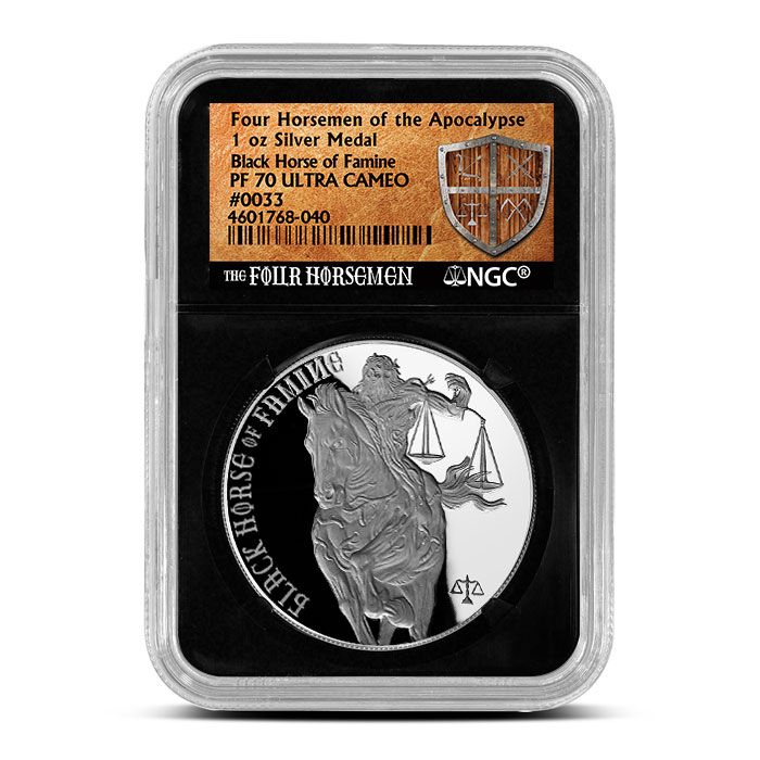 NGC Proof 70 Black Horse of Famine