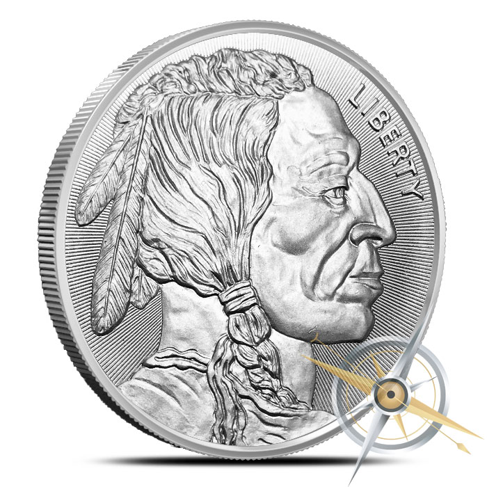 Buffalo 1 oz Silver Round with Radial Lines | Elemetal Mint