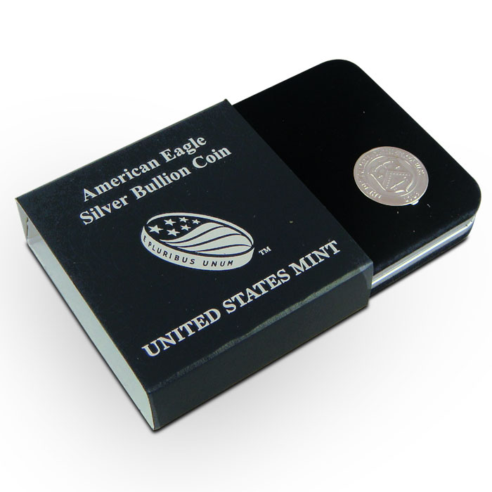US Mint Gift Box for American Silver Eagle Coin with Cardboard Sleeve