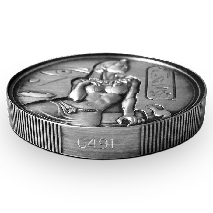 2 oz Cleopatra Silver Round Numbered Edge