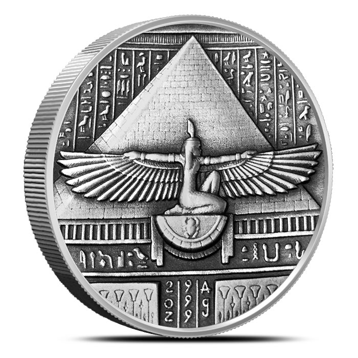 2 oz Silver Ultra High Relief Isis