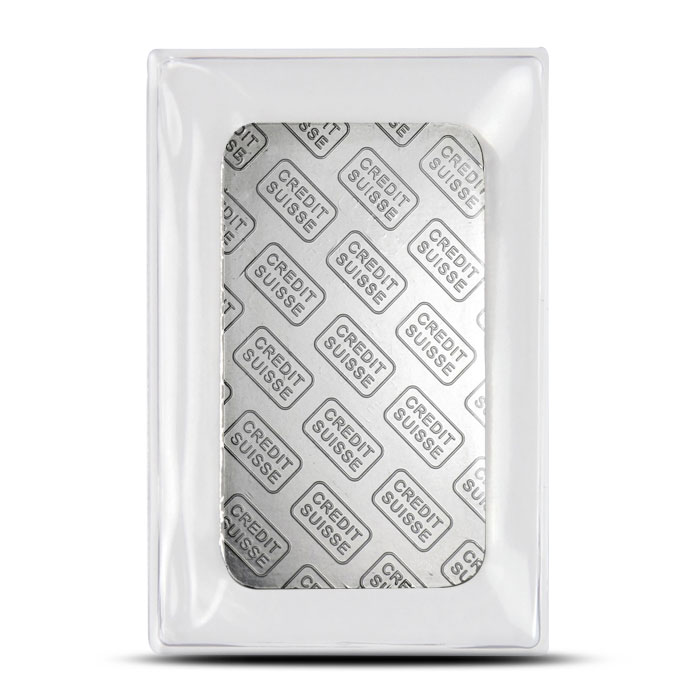 Credit Suisse one ounce Platinum Bar