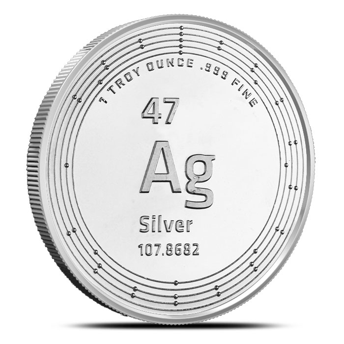 Elemetal one ounce Silver Round