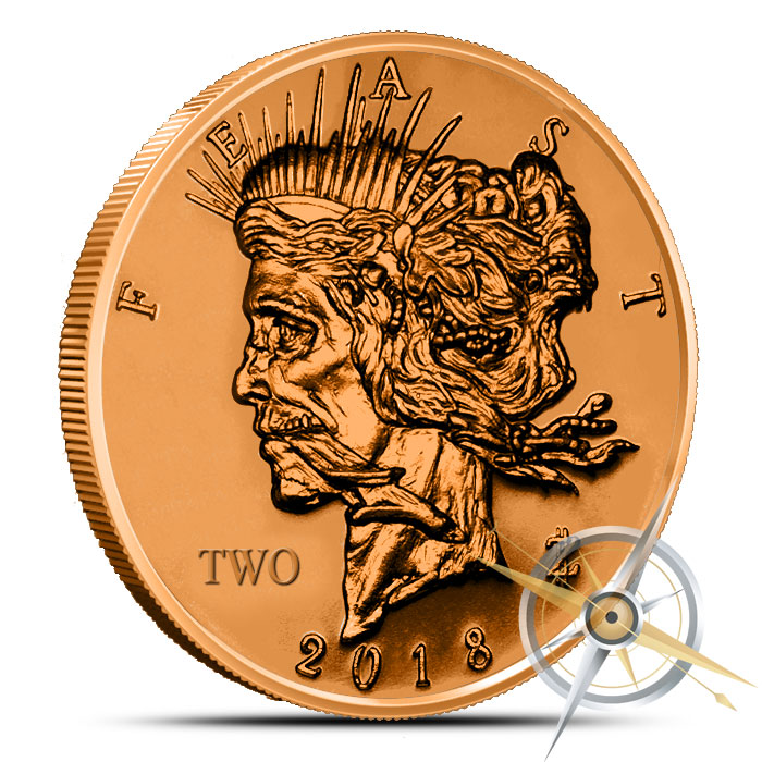Zombucks Feast Dollar 1 oz Copper Round