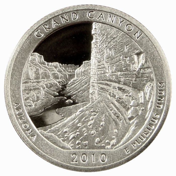 Grand Canyon National Park 2010 America the Beautiful Quarters Only Proof Set