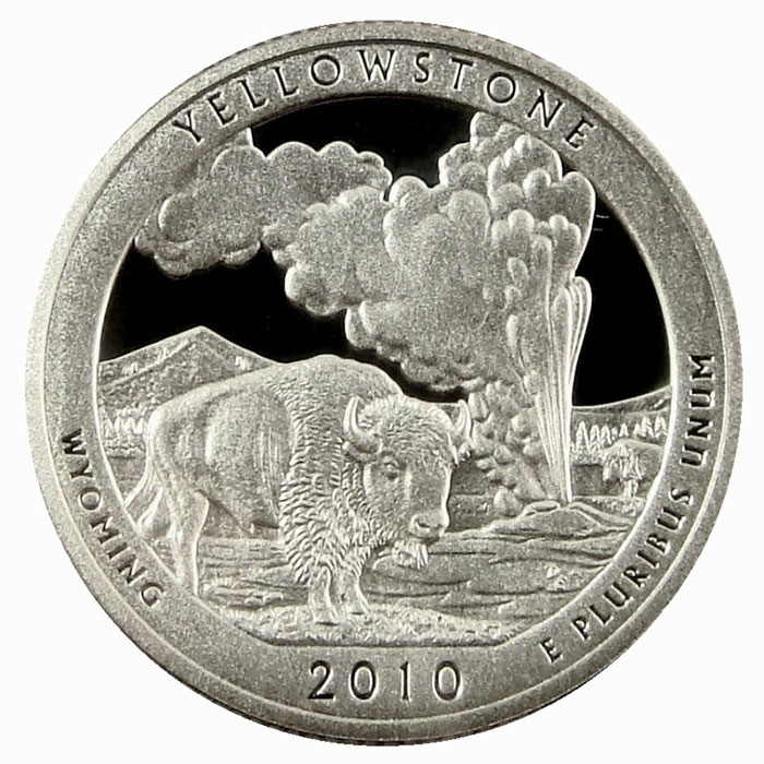 Yellowstone National Park 2010 America the Beautiful Quarters Only Proof Set