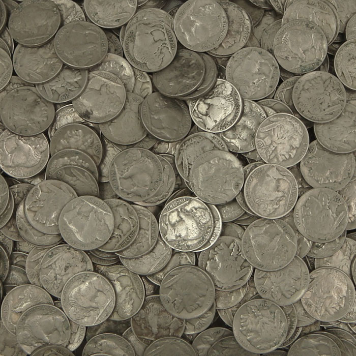Full Horn Buffalo Nickels - 40 Count Roll