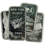 5 oz Silver Bar Varied Condition | Any Mint