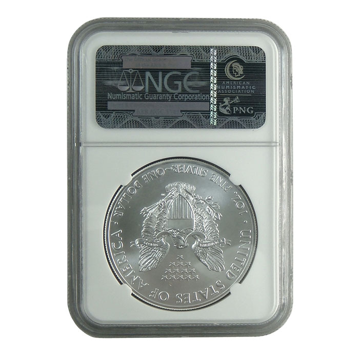 NGC MS69 Early Release 2012 (W) American Silver Eagle Bullion Coin Reverse