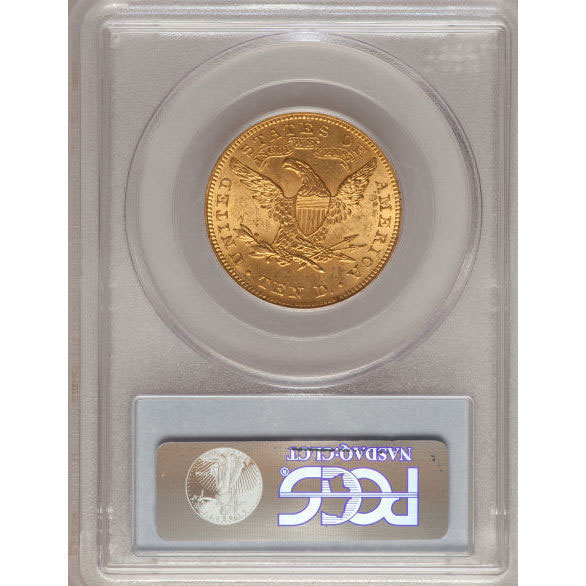 $10 Liberty PCGS MS63 Gold Eagle Coin Reverse