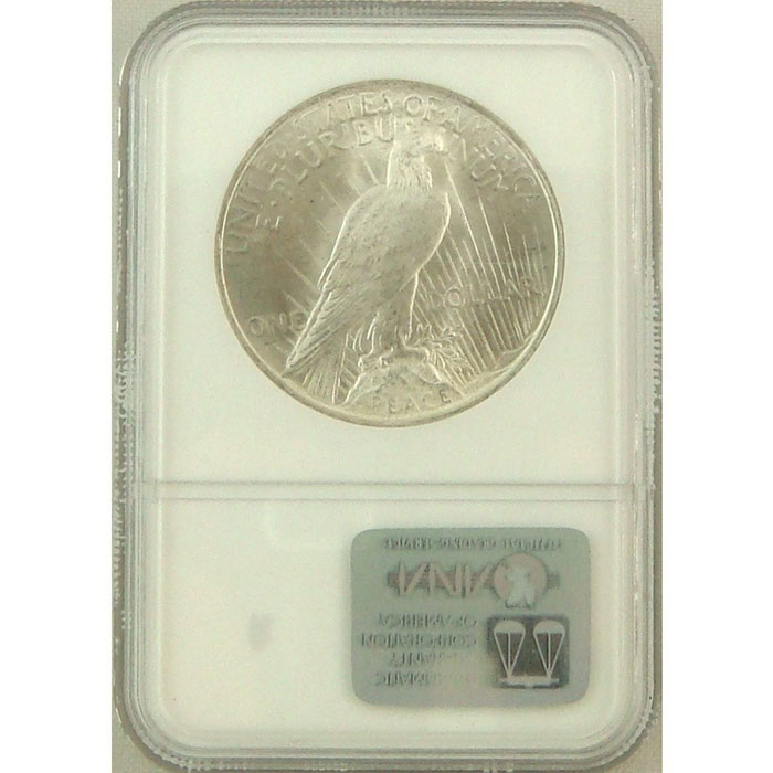 NGC MS65 Silver Peace Dollar Reverse