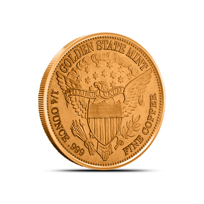 Copper Fourth Ounce Round Reverse
