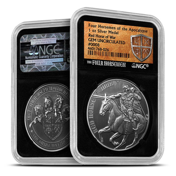 Red Horse of War | Four Horsemen NGC MS69 Antiqued