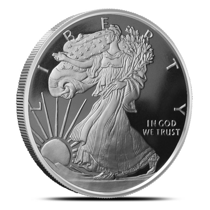 Walking Liberty 2 oz Silver Round