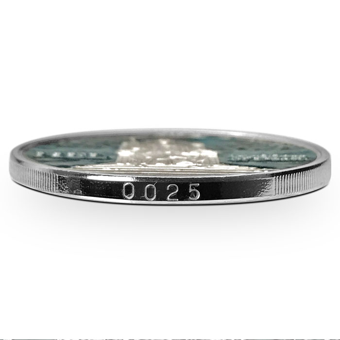 Hel Silver Round | Edge Number