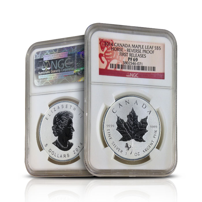 2014 Canadian Silver Maple Leaf Horse Reverse Proof | NGC PF69