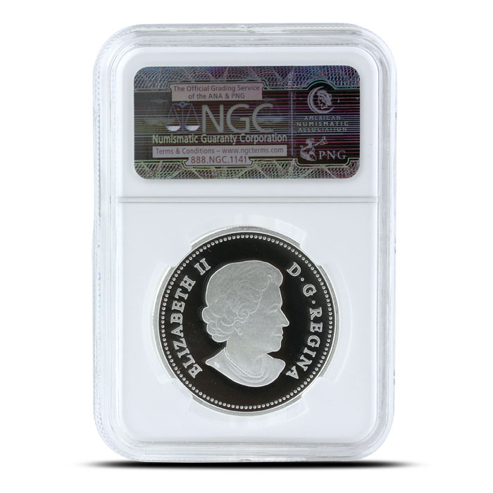 2014 1/2 oz $10 Silver Bison | O Canada Series NGC-PF69 Reverse