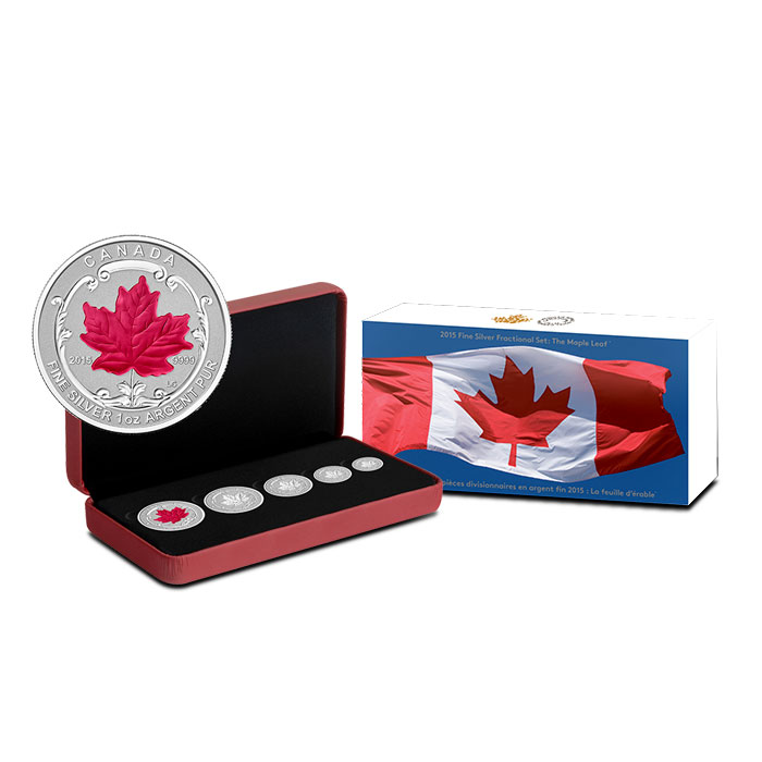 2015 Canadian Silver Fractional Set - Maple Leaf Set