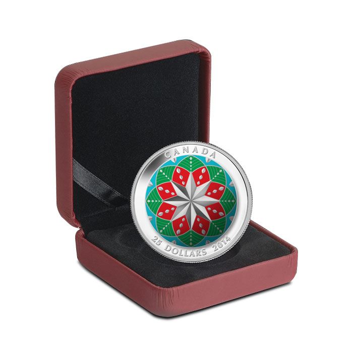 2013 1 oz High Relief Silver Christmas Ornament Box