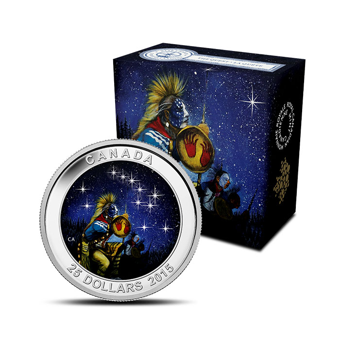 2015 $25 1 oz Silver Proof The Quest | Star Charts Series Coin and Box