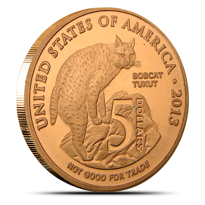 Los Coyotes Band of Indians $5 Copper Round Obverse