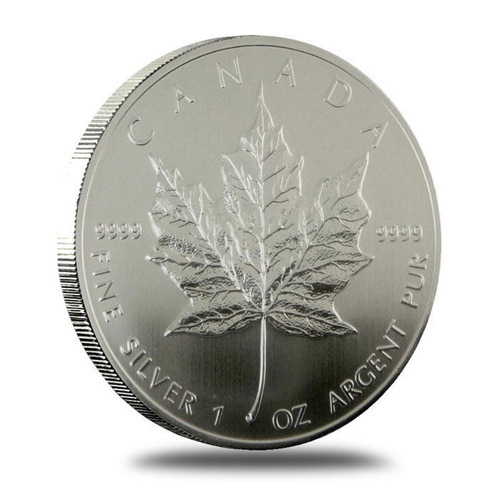 1994 1 oz Canadian Silver Maple Leaf Bullion Coin Obverse