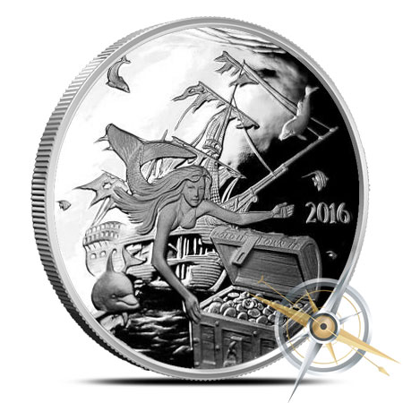 Silverbugs Mermaid Silver Round | Proof